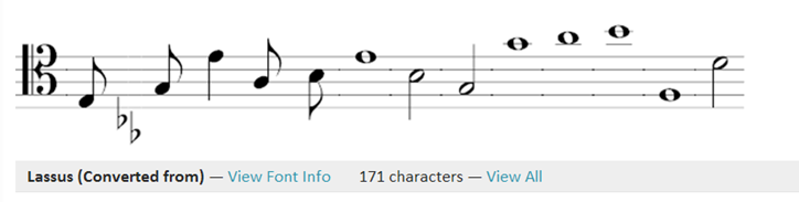 insert musical notes into word