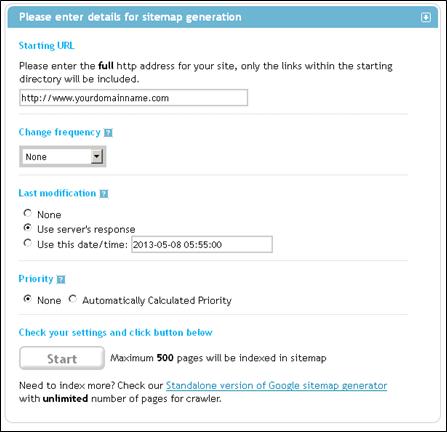 online xml sitemap generator unlimited pages slimniyaseru